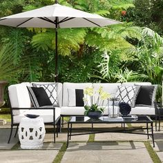 Outdoor Patio Table with Umbrella . Outdoor Patio Table with Umbrella . Rustic Outdoor Furniture, Outdoor Sofa, Outdoor Spaces, Outdoor Living, Outdoor Decor, Antique Furniture, Outdoor Pillow, Wooden Furniture, Furniture Ideas