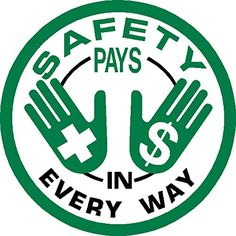 "Safety Pays In Every Way Hard Hat Hardhat Decal Sticker Placard 2""W X 2""H - Sold in Package of 4 IMakeDecalsforYou http://www.amazon.com/dp/B00MQDCYW6/ref=cm_sw_r_pi_dp_Zin5ub1EZ84HE"