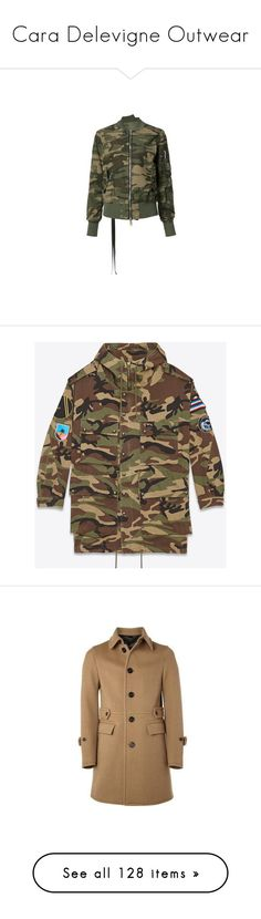 """""""Cara Delevigne Outwear"""" by taught-to-fly19 on Polyvore featuring outerwear, jackets, camo print jacket, style bomber jacket, camouflage bomber jacket, camoflage jacket, flight jacket, tops, hoodies e sweatshirts"""