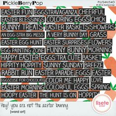Hey! you are not the easter bunny word art By Lisete Scrap