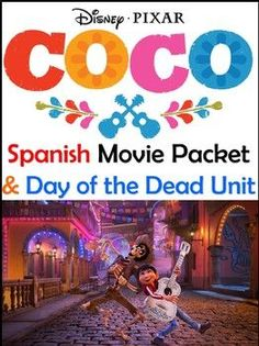 Coco Movie & Day of the Dead Bundle - El Dia de los Muertos Spanish Lesson Plans, Spanish Lessons, Learn Spanish, French Lessons, Learn French, Spanish Language Learning, Teaching Spanish, Spanish Classroom Activities, Vocabulary Activities