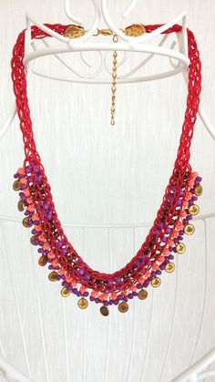 statement women necklacevivid colorsboho by HANDMADETHIS on Etsy Boho Jewelry, Wedding Jewelry, Unique Jewelry, Gifts For Girls, Gifts For Mom, Handmade Necklaces, Handmade Gifts, Vivid Colors, Jewels