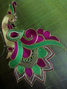 Elegant peacock crochet work