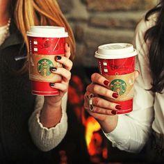 Festive Starbucks. I love when this season comes around. Yesterday I enjoyed my Rasberry White Mocha dressed for the holidays.