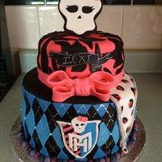 Monster high Birthday cake ~Cute idea for a cake!