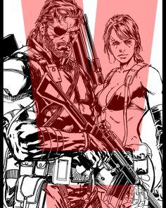 Venom & Quiet By Jason Fabok Metal Gear V, Metal Gear Solid Quiet, Metal Gear Games, Metal Gear Solid Series, Metal Gear Rising, Anime Couples Manga, Cute Anime Couples, Anime Girls, Game Character Design