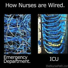 Imagine coming from ICU to ER. Woah! Lol