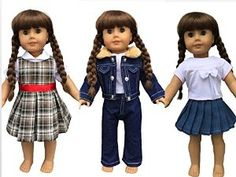 http://www.amazon.com/Doll-Clothes-American-Outfits-18-Inch/dp/B00FKAH1S4/ref=sr_1_20?s=toys-and-games&ie=UTF8&qid=1428072397&sr=1-20&keywords=american+girl+doll+clothes new american girl doll clothes for 2015 fits american girl dolls and other 18 inch From instyle doll clothes these outfits are built to last  daddy approved!