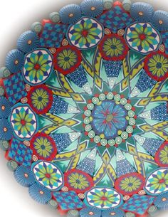 Fabulous polymer clay bowls by Karin Noyes!