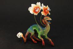 Original Creature Dragon Figurine Fantasy by DemiurgusDreams