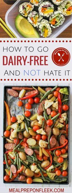 How to go Dairy Free and Dairy Free Recipes So gehen Sie milchfrei und milchfrei Rezepte Dairy Free Diet Plan, Dairy Free Recipes Easy, Free Diet Plans, Dairy Free Snacks, Dairy Free Breakfasts, Gluten Free, Lactose Free Meals, No Dairy Diet, Dairy Free Weight Loss