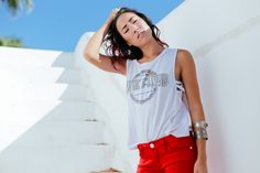 Pink Floyd 'Dark Side of the Moon' Tank with Red Jeans | Feast.Fashion.Faves