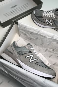 New Balance First Look Closer Update 990 Sneaker Grey Suede Mesh Rubber Footwear Release Details Grey New Balance, Burberry, Oufits Casual, Sport Fashion, Women's Fashion, Sport Girl, Hypebeast, Sport Outfits, Sneakers Fashion