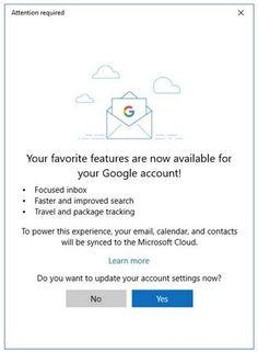 Windows 10 Mail y Calendario con nuevas características para insiders con Gmail