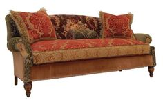 Brandy Brocade Couch   Lush Printed Velvet And Brocades Marry Their Beauty  With Nouveau Victorian Appeal.