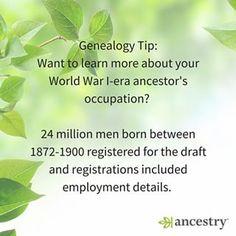 WWI draft registrations, for the win! #ancestry #WWI #WorldWarI #WorldWar #War…