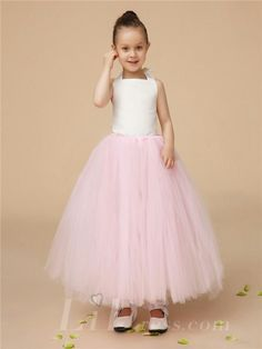 Little Girls Pink Performance TuTu Dress Flower Girls Princess Skirt