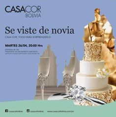 Próximo martes 26 de abril... exposición de mesas de bodas de DEtiqueta en diferentes ambientes de CASACOR BOLIVIA 2016