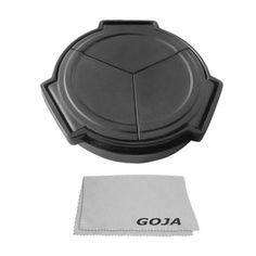 Auto Lens Cap for PANASONIC Lumix DMC LX5 LX-5 LEICA D-LUX 5 (Black) + Premium Goja Microfiber Cleaning Cloth
