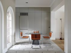 Justin Alexander for #Knoll   Spoleto #Chairs and a Platner #Dining Table