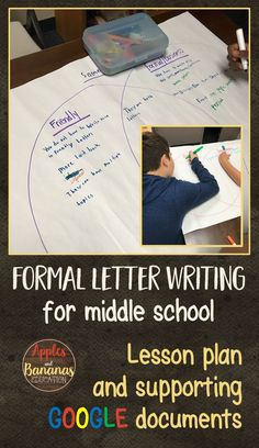 This step-by-step lesson plan with PDF and Google versions will help you guide upper elementary or middle school students through the formal (business) letter writing process. Engaging, real-world writing with purpose. Writing Lesson Plans, Teacher Lesson Plans, Writing Lessons, Writing Process, Teaching Writing, Teaching Ideas, Formal Letter Writing, A Formal Letter, Formal Business Letter