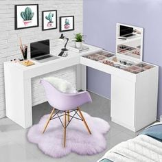 Study Room Decor, Room Design Bedroom, Girl Bedroom Decor, Bedroom Decor, Small Room Bedroom, Bedroom Interior, Home Office Decor, Dorm Room Decor, Small Room Design