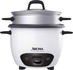 Aroma - 6-Cup Rice Cooker - White, ARC-743-1NG