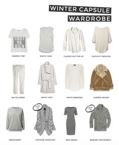 Stop buying clothes you won't wear. Adopt a capsule wardrobe - 37 pieces that you love and that mix and match, plus you can actually see all your clothes when you look in the closet!