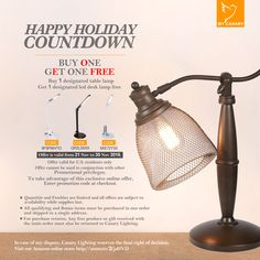 Buy One Get One Free!! You can't miss it !!! Such a pretty cute and awesome table lamp!!!  Hurry,Limited Quantites!!!