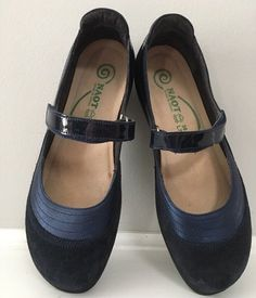 72c8b3b2f93 Naot Kirei Shoes Mary Jane Navy Blue Size 38 7 Suede Patent  Naot   MaryJanes. eBay