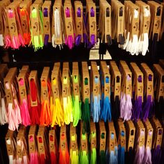 Converse shoelaces in every color.  I wish there was a local store for these, with a full rainbow of colors like this!  jj