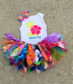 6fa67e329d01 Luau outfit, Hawaiian birthday Outfit - personalized - shabby chic outfit,  summer birthday outfit