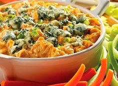 Buffalo Chicken Dip - A delectable blend of spicy chicken and cheese.