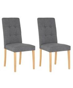 Adaline Pair of Oak Effect Dining Chairs.