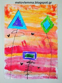 Με το βλέμμα στο νηπιαγωγείο και όχι μόνο....: Τα σχηματολούλουδά μας.Κολάζ και φύλλα εργασίας Kindergarten, School Stuff, Blog, Painting, Painting Art, Kindergartens, Paintings, Preschool, Painted Canvas