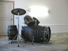 Recycled Wine Barrel Drum Set