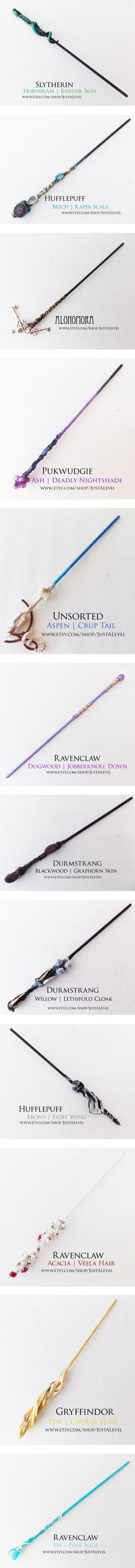 Harry Potter Inspired Wands by grandmasfood on Polyvore featuring beauty products, harry potter, wand, wands, accessories, ravenclaw wand, gryffindor wand, haircare, hair styling tools and handmade ho