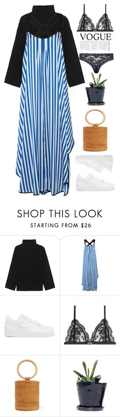"""""""Untitled #3"""" by mellquiades ❤ liked on Polyvore featuring Steffen Schraut, By Malene Birger, NIKE, Alexander McQueen, Simon Miller and Dot & Bo"""