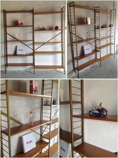 This original 1960's Ladderax shelving modular unit has just arrived into Retrorumage HQ. It has twelve teak shelves which are all adj...