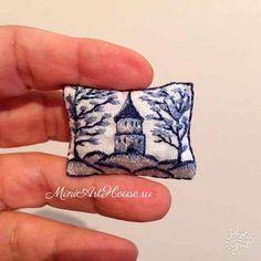 Evgeniya Yashina, Miniarthouse -  pillow. Hand embroidery