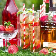 """""""For the record, I like my #bourbon with a side of #strawberries and colorful straws. Always. #woodfordreserve #thirstythursday #cocktails #patchperfect"""" Photo taken by @thedandelionpatch on Instagram, pinned via the InstaPin iOS App! http://www.instapinapp.com (07/02/2015)"""