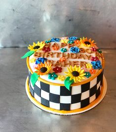 Checkerboard cake by Frostings Bake Shop