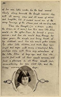 Lewis Carroll's original last page of Alice's Adventures Under Ground, including a picture of Alice Liddell.:
