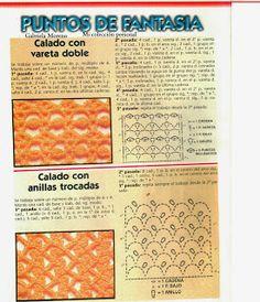 Delicadezas en crochet Gabriela: Puntos crochet para coleccionar
