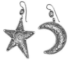 Filigree Silver Earrings beautifully crafted in Nepal