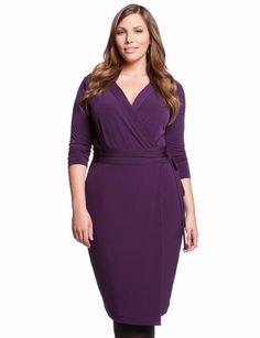 Essential Wrap Dress from eloquii.com