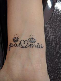 Homenagem aos meus pais! Por @galego_ink ❤️ #tattoo #family #dad #mom #familia #tatuagem Father Tattoos, Dad Tattoos, Couple Tattoos, Love Tattoos, Body Art Tattoos, Tatoos, 16 Tattoo, Tattoos For Daughters, Mehndi Designs
