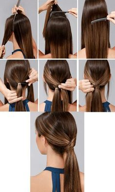20 DIY Elegant Hairstyles For Any Occassion We've selected hairstyles that don't take much time and make you look put together for any occasion.Here are 20 DIY elegant hairstyles for any occasion: Headband Hairstyles, Braided Hairstyles, Cool Hairstyles, Simple Ponytail Hairstyles, Diy Hair Bun, Ponytail Hairstyles Tutorial, Ponytail Tutorial, Evening Hairstyles, Gorgeous Hairstyles