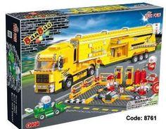 Banbao Blocs  Camion de pompier jaune 660 pièces 49.99$ Achetez-le: info@laboiteasurprisesdenicolas.ca