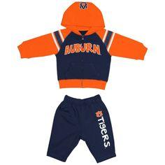 Auburn Tigers Toddler Navy Blue Linebacker Sweat Set